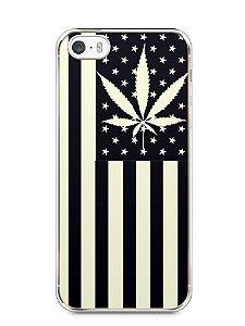 Capa Iphone 5/S Maconha Bandeira EUA