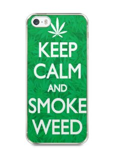 Capa Iphone 5/S Keep Calm and Smoke Weed