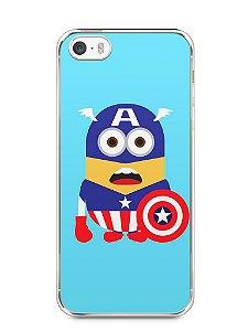 Capa Iphone 5/S Minions Capitão América