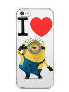 Capa Iphone 5/S I Love Minions