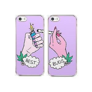 Capa Iphone 5/S Melhores Amigos Fumando