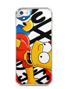 Capa Iphone 5/S Bart Simpson Duff