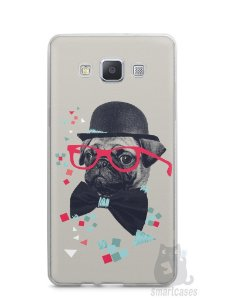 Capa Samsung A5 Cachorro Pug Estiloso #1