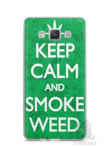 Capa Samsung A5 Keep Calm and Smoke Weed