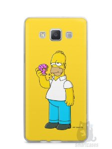 Capa Samsung A5 Homer Simpson Comendo Donut
