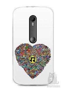 Capa Moto G3 Coração Personagens