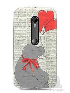 Capa Moto G3 Elefante e Corações