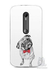 Capa Moto G3 Cachorro Pug Estiloso #2