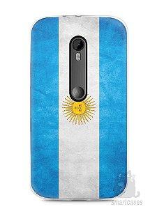 Capa Moto G3 Bandeira da Argentina