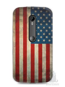 Capa Moto G3 Bandeira EUA