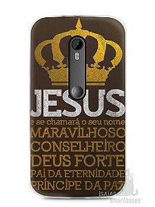 Capa Moto G3 Jesus #4