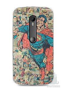 Capa Moto G3 Super Homem Comic Books