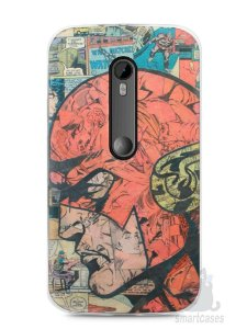 Capa Moto G3 The Flash Comic Books