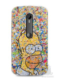 Capa Moto G3 Homer Simpson Comic Books
