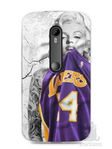 Capa Moto G3 Marilyn Monroe Lakers