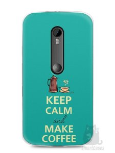 Capa Moto G3 Keep Calm and Make Coffee