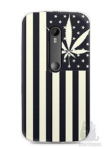 Capa Moto G3 Maconha Bandeira EUA
