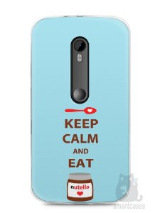 Capa Moto G3 Keep Calm and Eat Nutella