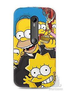 Capa Moto G3 Família Simpsons #2