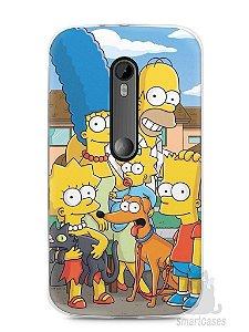 Capa Moto G3 Família Simpsons #1