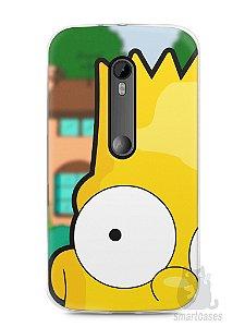 Capa Moto G3 Bart Simpson Face
