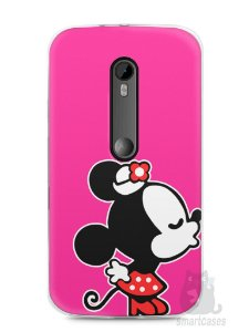 Capa Moto G3 Mickey e Minnie Beijo