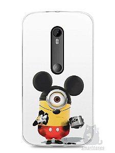 Capa Moto G3 Minions Mickey Mouse