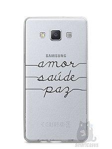 Capa Samsung A5 Amor Saúde Paz