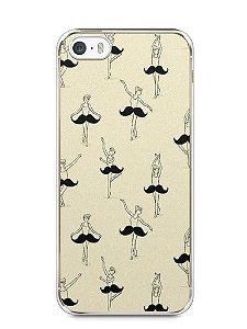 Capa Iphone 5/S Bailarina Bigode