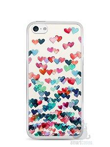 Capa Iphone 5C Corações Coloridos