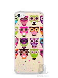 Capa Iphone 5C Corujas Coloridas