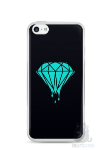 Capa Iphone 5C Diamante Azul
