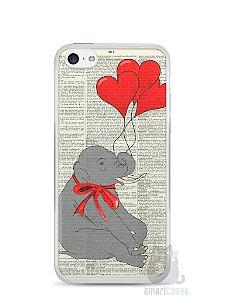 Capa Iphone 5C Elefante e Corações