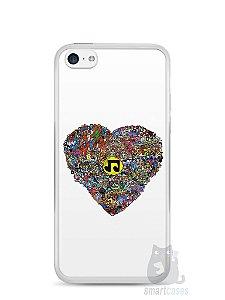 Capa Iphone 5C Coração Personagens