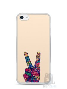 Capa Iphone 5C Paz e Amor