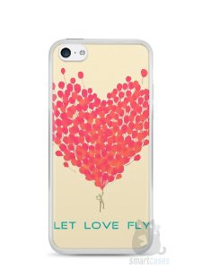 Capa Iphone 5C Deixe o Amor Voar