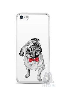 Capa Iphone 5C Cachorro Pug Estiloso #2
