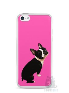 Capa Iphone 5C Cachorro Boston Terrier