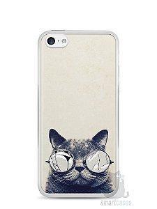 Capa Iphone 5C Gato Com Óculos
