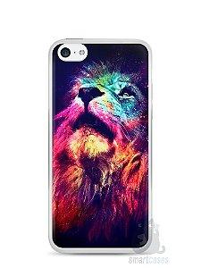Capa Iphone 5C Leão Colorido #3
