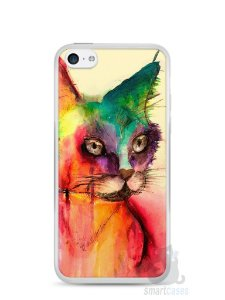 Capa Iphone 5C Gato Pintura