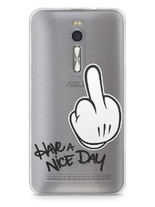 "Capa Zenfone 2 Dedo Mickey ""Have A Nice Day"""