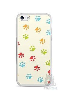 Capa Iphone 5C Patinhas Coloridas #2