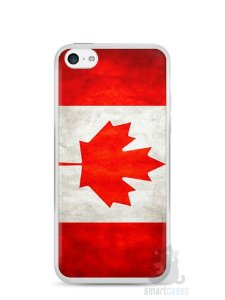 Capa Iphone 5C Bandeira do Canadá
