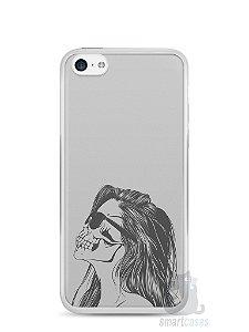 Capa Iphone 5C Mulher Caveira