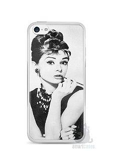 Capa Iphone 5C Audrey Hepburn #1