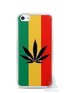 Capa Iphone 5C Rasta Weed #2