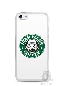 Capa Iphone 5C Star Wars Coffee
