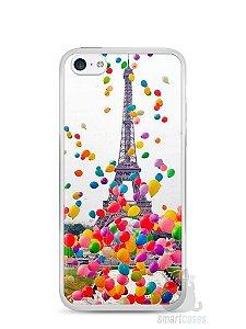 Capa Iphone 5C Torre Eiffel e Balões