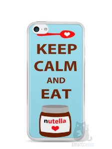Capa Iphone 5C Keep Calm and Eat Nutella